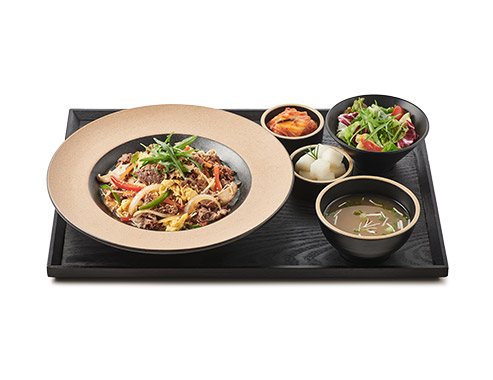 Stir-fried Beef with Rice